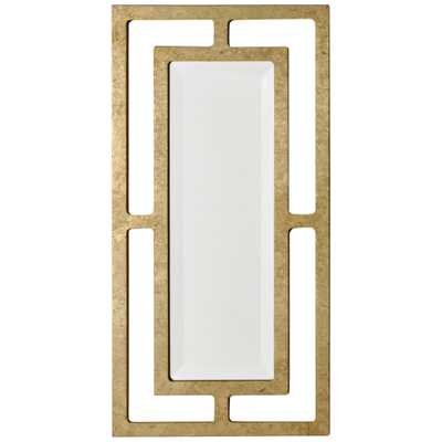 "York Gold Leaf 12"" x 24"" Wall Mirror - Style # 61C44 - Lamps Plus"