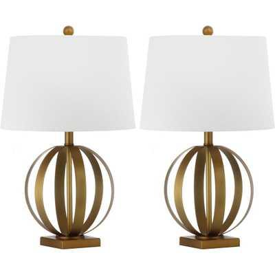 Euginia Sphere Table Lamp (Set of 2) - Safavieh, Gold/White - Target
