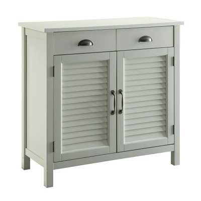 Olivia White Accent Cabinet, 2-Shutter Doors and 2-Drawers - Home Depot