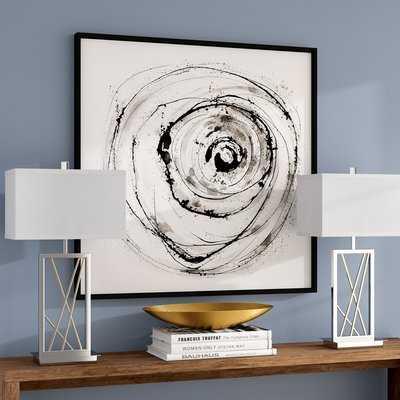 Eye on the World Modern Abstract Framed Painting Print - Wayfair