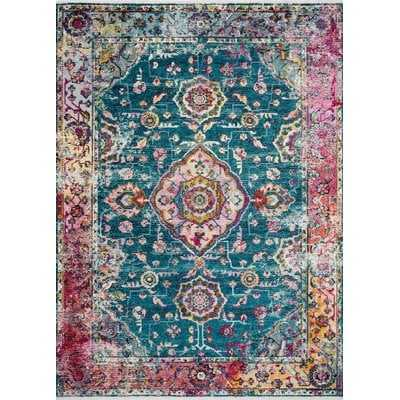 Silvia Teal/Berry Area Rug - Wayfair