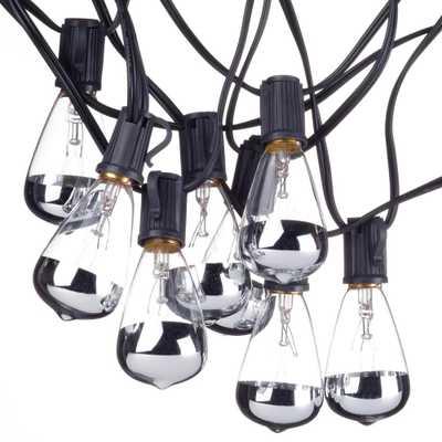 Globe Electric Bristol 10-Light Indoor/Outdoor 10 ft. Plug-In String Light Designer Silver Tipped Vintage Edison Bulbs Included - Home Depot