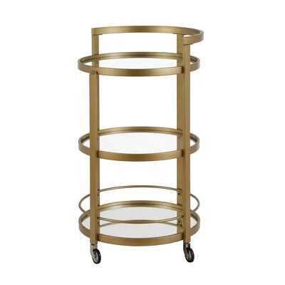 Willem Mirrored Bar Cart - AllModern
