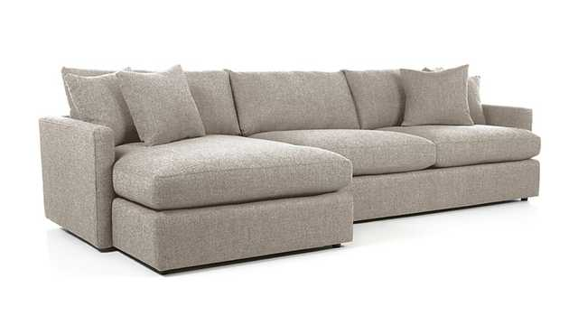Lounge II 2-Piece Sectional Sofa - Heather - Crate and Barrel