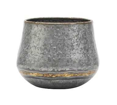 Low Galvanized Vases - Small - Pottery Barn