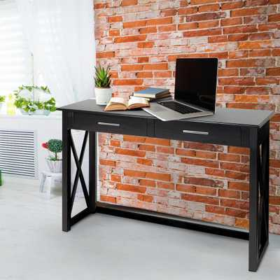 Bay View Black Console Table - Home Depot
