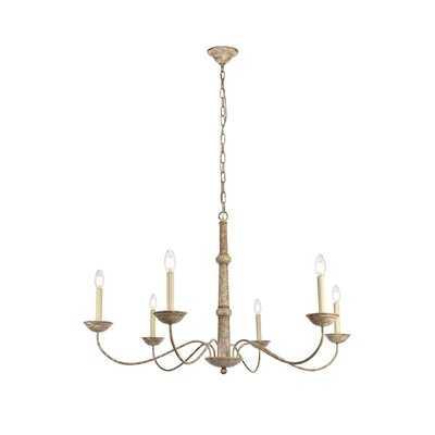 Seneca 6 - Light Candle Style Classic / Traditional Chandelier - Birch Lane