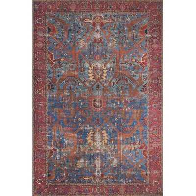Raul Oriental Blue/Red Area Rug - Wayfair