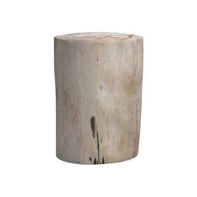 Petrified Wood Side Table, Wood, White - Williams Sonoma