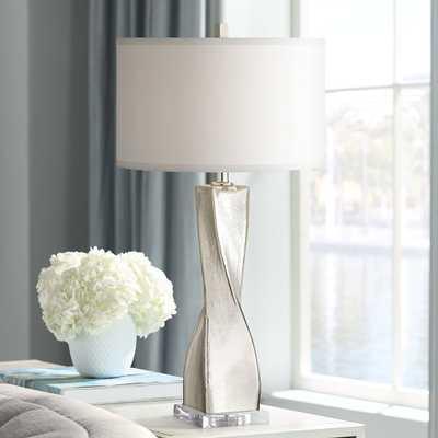 Oirin Silver Twist Crackle Mercury Glass Table Lamp - Style # 68R18 - Lamps Plus