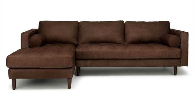 Sven Charme Chocolat Left Sectional Sofa - Article