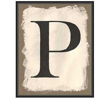 """Painted Type Letter Framed Print, P, 21 x 26"""" - Pottery Barn"""