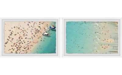 'Aerial Beach Views Diptych' 2 Piece Framed Photographic Print Set - AllModern