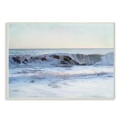 'Coastal Evening Beach Cresting Wave' Photographic Print - Wayfair