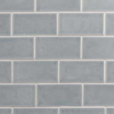 Splashback Tile Oracle Arctic Blue 3 in. x 6 in. Polished Ceramic Subway Tile (1 sq. ft.), Artic Blue - Home Depot