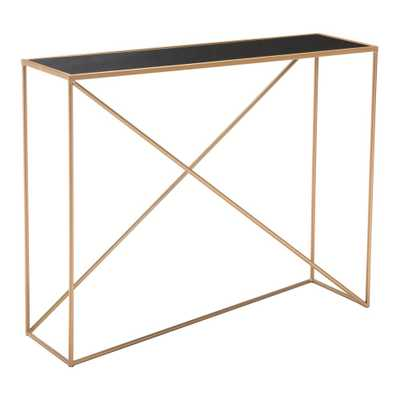 Sixty Black Console Table - Home Depot