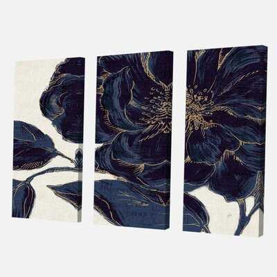'Dark Rose Gilded Gold' Painting Multi-Piece Image on Canvas - Wayfair