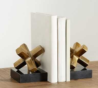 Spike Object Brass Bookend - Pottery Barn