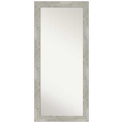 Amanti Art Dove 29.88 in. x 65.88 in. Grey Wash Decorative Full Length Floor / Leaner Mirror - Home Depot