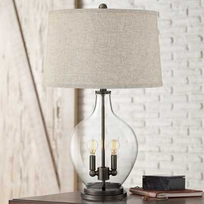 Becker Clear Glass Table Lamp with Night Light - Style # 40X49 - Lamps Plus