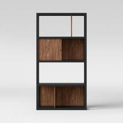 65.9 Siebert 4 Shelf Vertical Bookcase Black/Brown - Project 62 - Target
