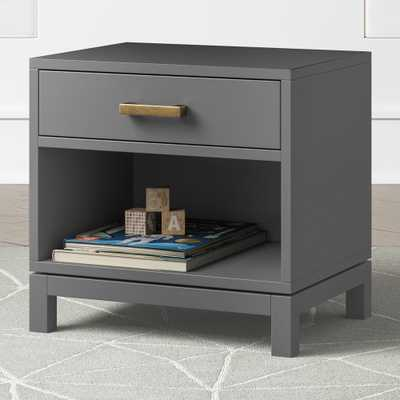 Kids Park Charcoal Nightstand - Crate and Barrel