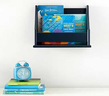 Collector's Mini Book Rack Shelf, Navy - Pottery Barn Kids