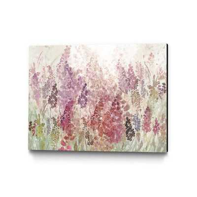"""36 in. x 24 in. """"Summer Haze"""" by Ruth Palmer Wall Art, Purple/Red - Home Depot"""