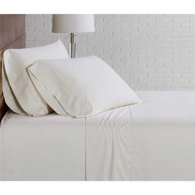 Brooklyn Loom Classic Cotton Ivory Queen Sheet Set - Home Depot