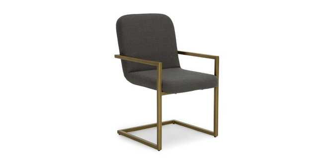 Alchemy Cinder Gray Dining Armchair - Article