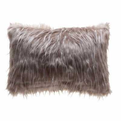 Holli Feather Indoor/Outdoor Faux Fur Lumbar Pillow Cover - Wayfair