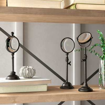Doster Metal Magnifying Glasses on Stand Set - Wayfair