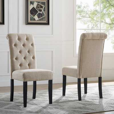 Evelin Upholstered Dining Chair (Set of 2) - Wayfair