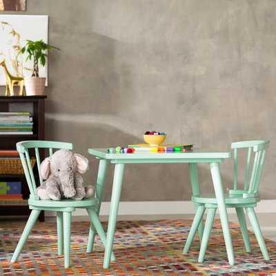 Nicklas Kids 3 Piece Windsor Writing Table and Chair Set - Birch Lane
