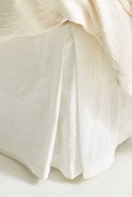 Relaxed Cotton-Linen Bed Skirt - Anthropologie