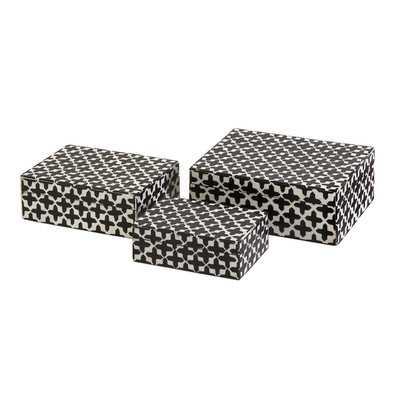 Pittman 3 Piece Bone Box Set - Wayfair