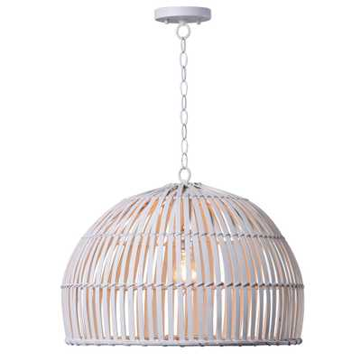 Kenroy Home Moon 1-Light White Pendant - Home Depot