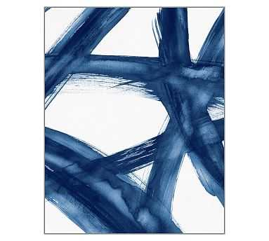"Blue Expression 1, Canvas, 36 x 45"" - Pottery Barn"