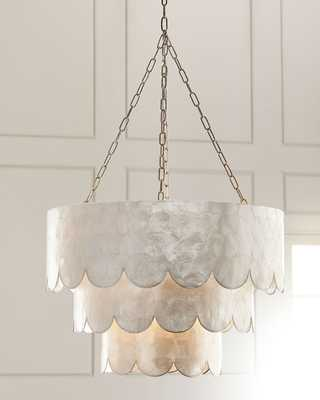 Three-Tiered Scalloped Capiz 3-Light Pendant - Horchow