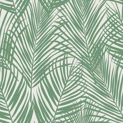 Brewster Wallcovering 8 in. x 10 in. Fifi Green Palm Frond Wallpaper Sample - Home Depot