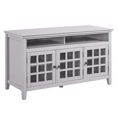 Linon Home Decor Payton Gray Media Cabinet, Grey - Home Depot