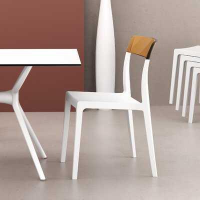 Kliebert Stacking Patio Dining Chair (Set of 2) - AllModern