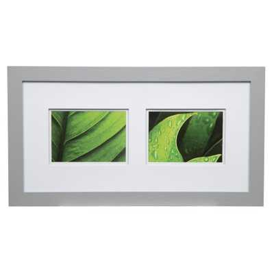 Gallery 5 in. x 7 in. Gray Double Mat Picture Frame, Grey - Home Depot