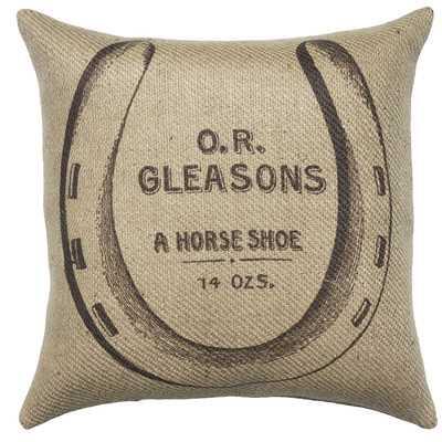 Horse Shoe Burlap Throw Pillow - Wayfair
