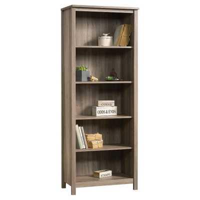 County Line 69 5 Shelf Bookcase Library - Salt Oak - Sauder - Target