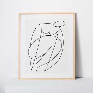 "Kate Arends Framed Print, Woman, White, 16""x20"" - West Elm"