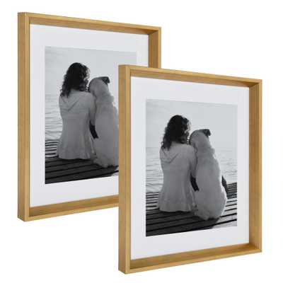 Calter 14x18 matted to 11x14 Gold Picture Frame (Set of 2) - Home Depot