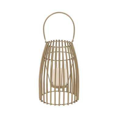 Uma Enterprises Gold Candle Tabletop Lantern - Home Depot