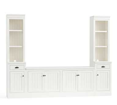 Aubrey Small Media Suite, Dutch White - Pottery Barn