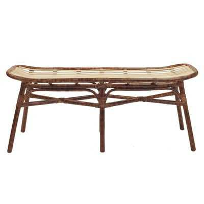 Ayanna Wicker Bench - Wayfair